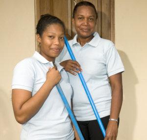 caretaker doing housekeeping
